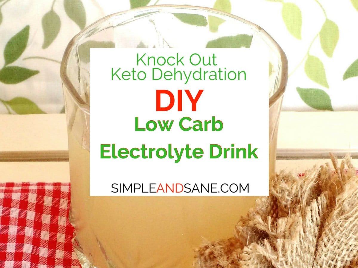 I have an awesome recipe here for a DIY Low Carb Electrolyte Drink to battle the fatigue and get you feeling great again in no time!