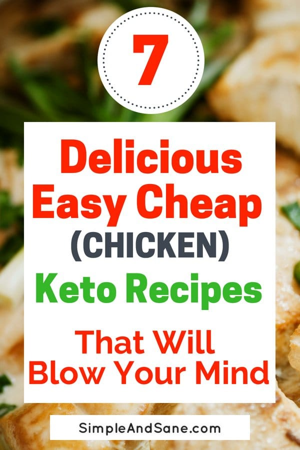 Cheap easy chicken is always on the menu when you're doing Keto on a budget. Save time and money with these awesome recipes!