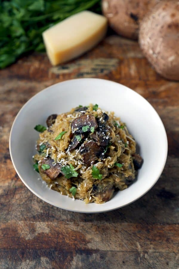 spaghetti-quash-with-mushrooms-by Pickled Plum