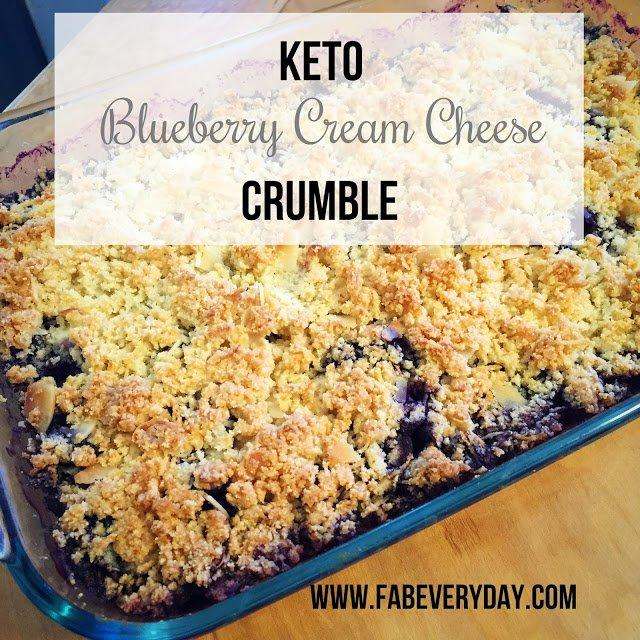 Keto Blueberry Crumble from Fab EveryDay