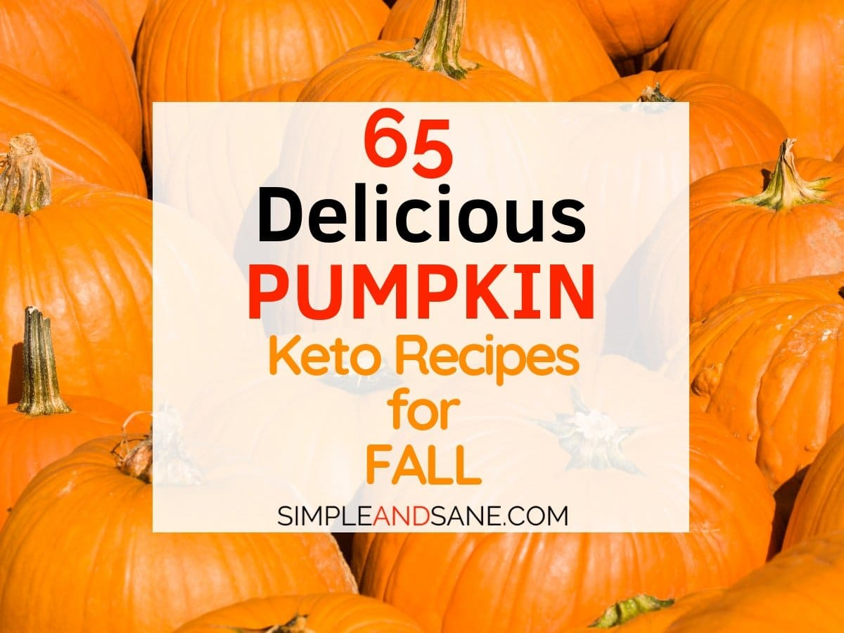 CRUSH those cravings for fall pumpkin dishes! I've got 65 awesome delicious Keto pumpkin recipes that make losing weight on your ketogenic diet even tastier!
